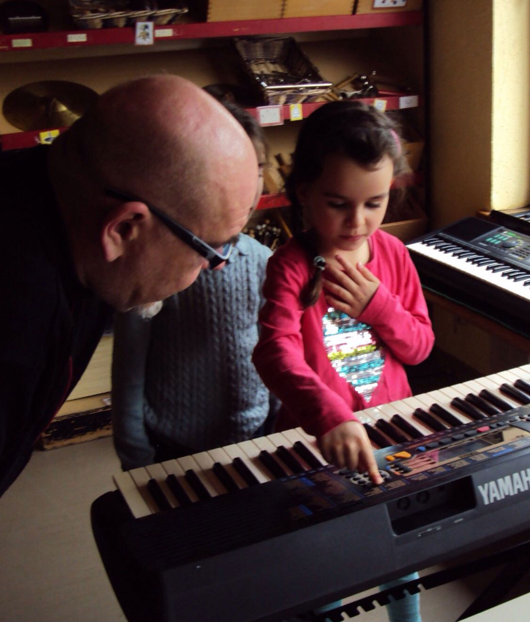 Keyboardunterricht mit Grundschülern